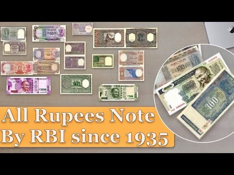 All Indian Currency (rupees note) | Reserve Bank Of India (RBI) | VIDEO