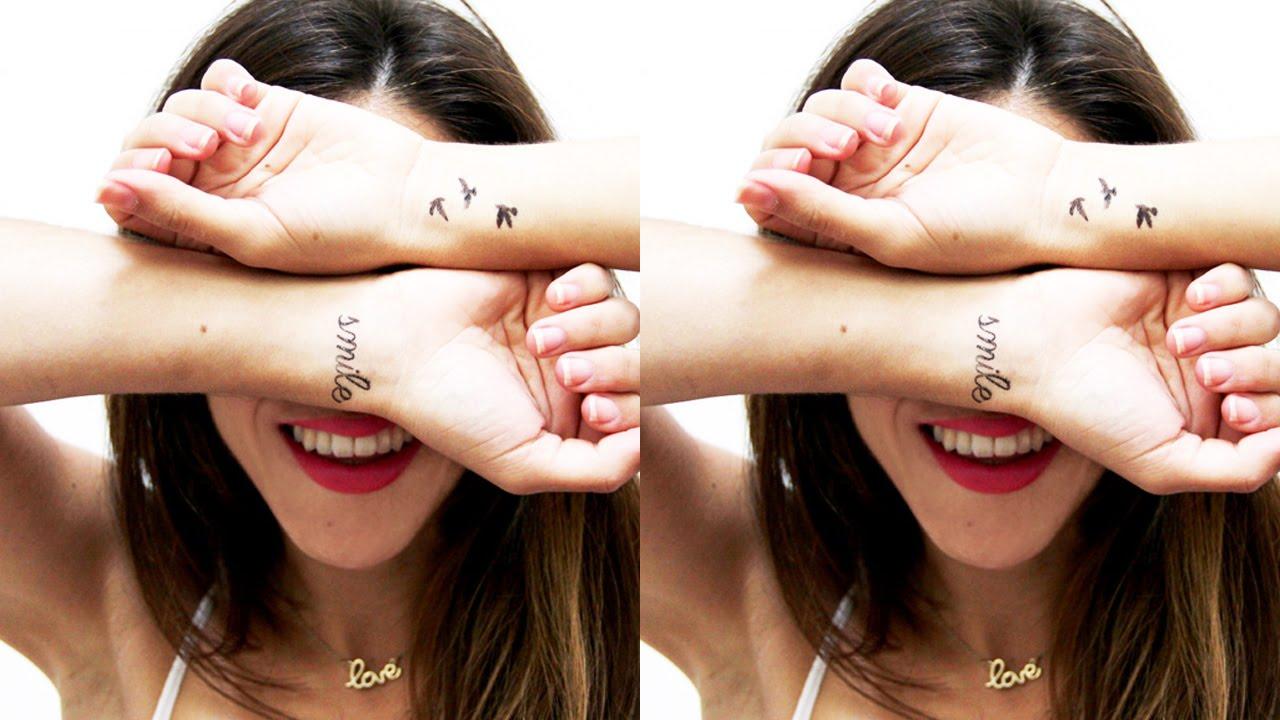 Tatuajes Temporales Hechos En Casa haz tus propios tatuajes temporales! ¡3 ideas perfectas! ツ ❀ por