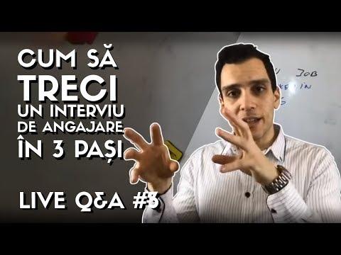 ✅Live Q&A #3 | Cum sa treci un Interviu pentru un Job in IT ? in 3 PASI