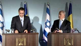 PM Netanyahu meets with Romanian PM Victor Ponta