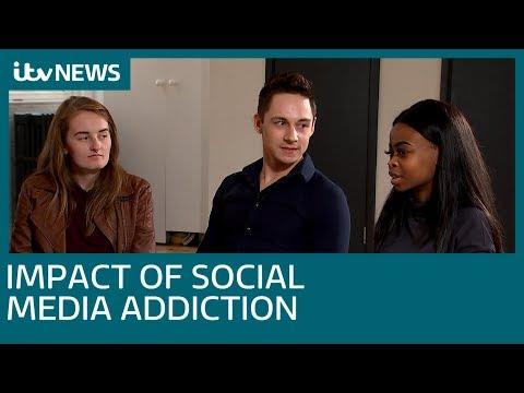 Social media addiction - the 'damaging, negative impact' | ITV News