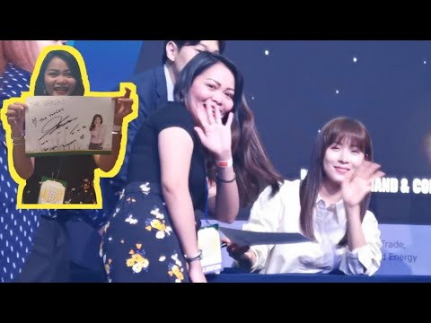 HA JI WON FAN SIGN   Korea Brand & Content Expo 2019 Dubai