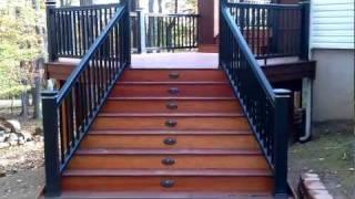 Spectacular Ipe Deck Built By Deck Remodelers W Black Timbertech Rails Deck Remodelers