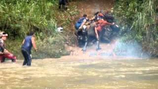banshee 350 river crossing/mudding Las Marias, P.R. #3
