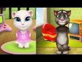Baby My Talking Angela dress up vs My Talking cat Tom - funny gameplay 2017 HD