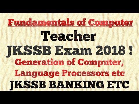 Fundamentals of Computer (Part-1) for JKSSB Teacher Exam | Junior Assistant | Banking 2018 !