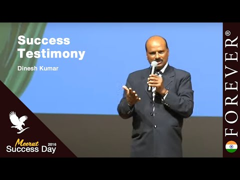 Business Testimony by Dinesh Kumar at Meerut Success Day