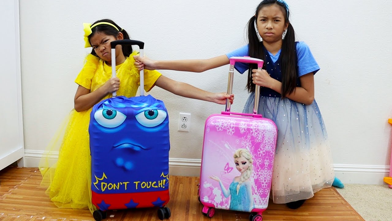 Emma and Wendy Pretend Play with Luggage Vacation Suitcase Toy for Kids  Fun Travel Toys