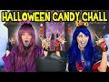 Evie vs Mal Halloween Candy Challenge from Descendants 2. Totally TV