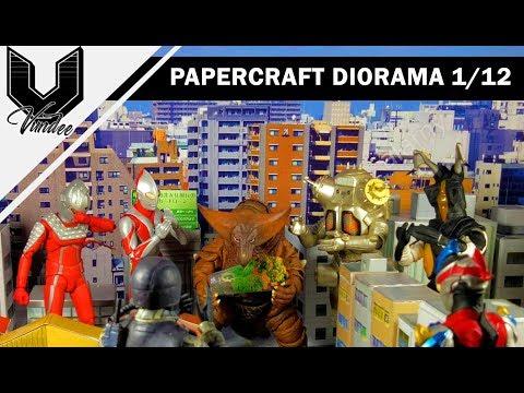 1/12 Papercraft City Diorama for SHF Ultraman
