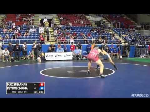 145 Champ. Round 2 - Peyton Omania (California) vs. Max Spearman (Georgia)