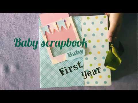 Baby scrapbooking ideas,Album,Handmade Baby Boy scrapbook,First year record Book DIY @Papersai arts