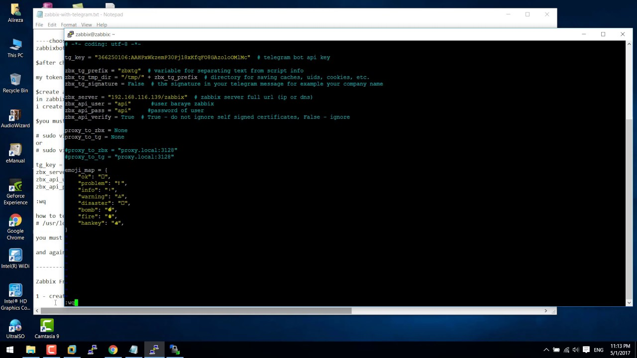 Zabbix with Telegram on ubuntu 16 4