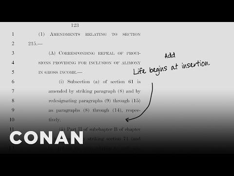 Handwritten Additions To The GOP Tax Bill  - CONAN on TBS