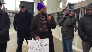 Senator James Sanders at 32BJ Fair Wages Rally