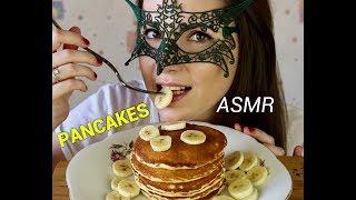 АСМР Панкейки ВИДЕО НА АНГЛИЙСКОМ/ASMR Mukbang Pancakes + Recipe