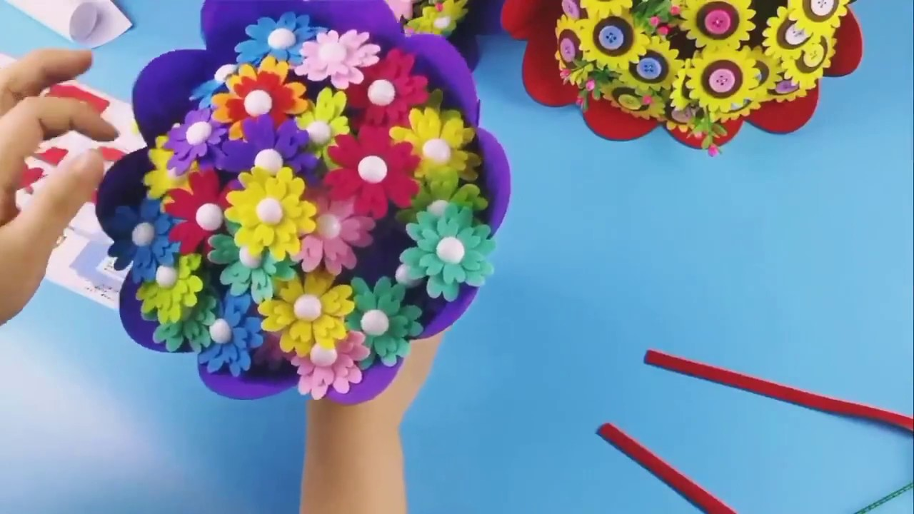 DIY Hand Flower Bouquet - Gifts - YouTube
