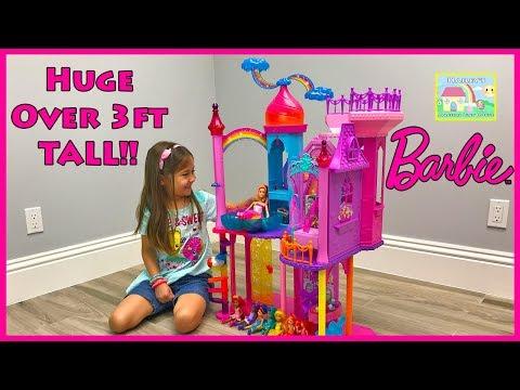 Huge Princess Castle Surprise Toys Hunt   DreamTopia Rainbow Girls Kids Dolls & Egg Toy Surprises