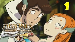 Deponia : The Complete Journey | Gameplay Part 1 (Intro) | A Point And Click Puzzle Adventure
