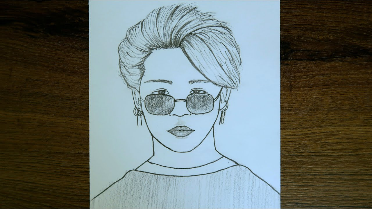 Kolay Yoldan BTS Jimin Çizimi / Jimin bts easy drawing