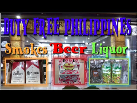Philippines Duty Free Prices for Cigarettes, Beer & Liquor