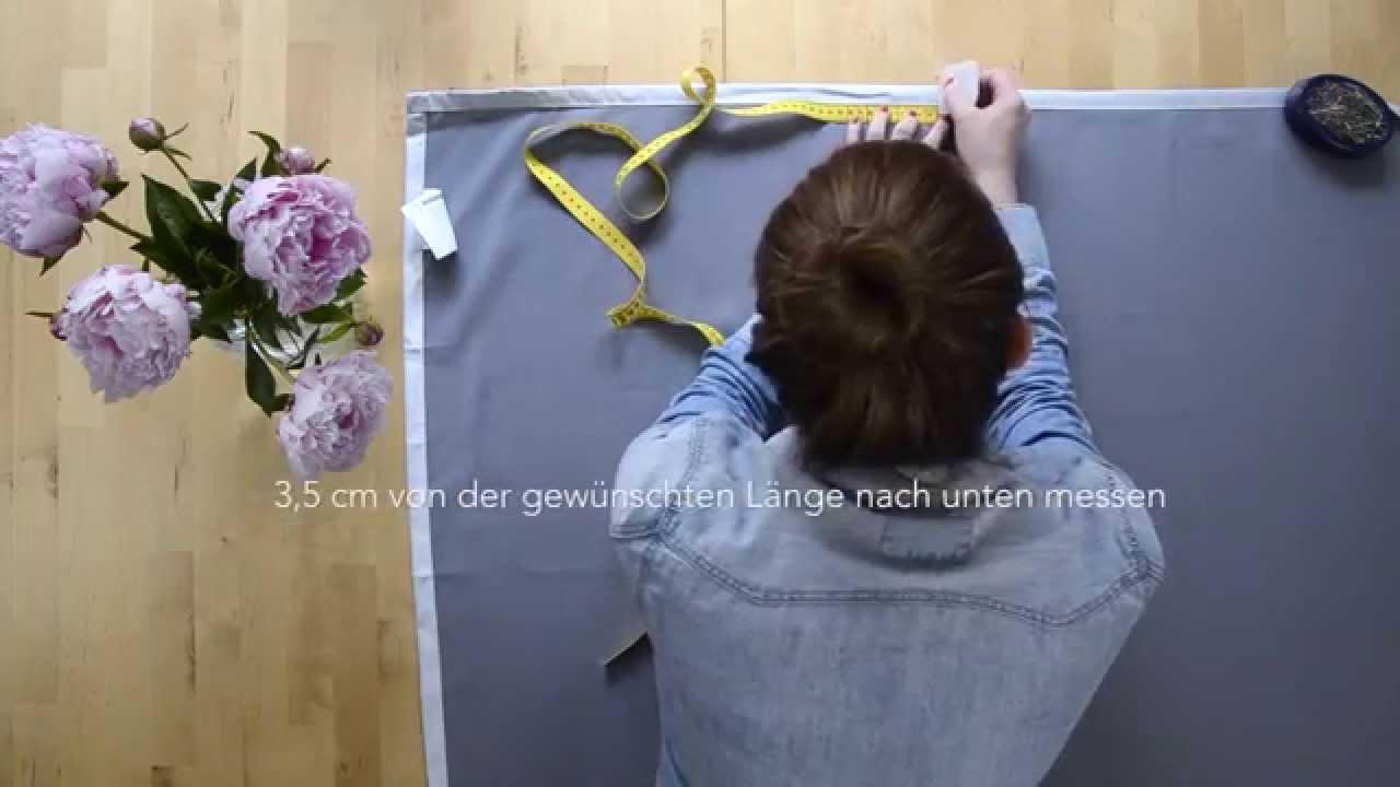 DIY: Vorhang kürzen   YouTube