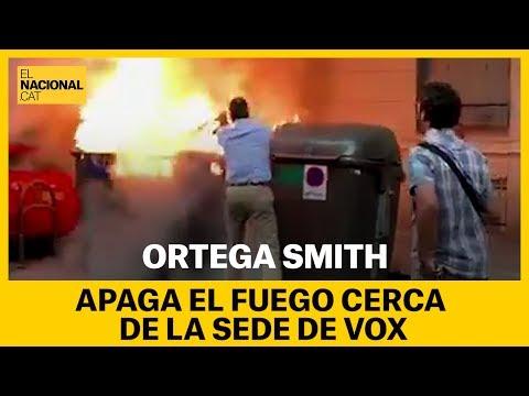 Ortega Smith apaga fuego cerca de la sede de Vox