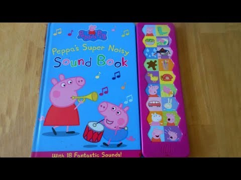Peppa Pig: Peppa's Super Noisy Sound Book review video