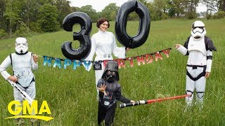 Mom celebrates her 30-'Sith' birthday with Star Wars photoshoot l GMA Digital