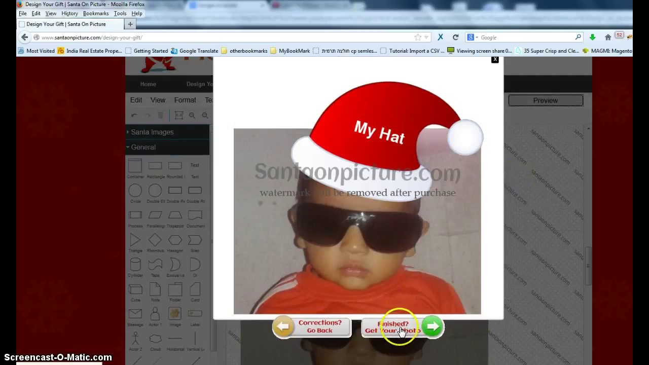 d81259fb7d5ca How to add santa hat on my picture  - YouTube