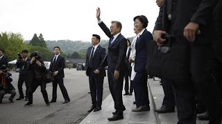 South Korea  Moon begins term as president after landslide election win confirmed