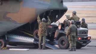 伊豆大島で訓練していた陸上自衛隊東部方面隊が離島。設備を運搬してい...