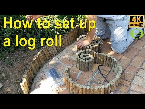 How to set up a garden edging Log Roll.