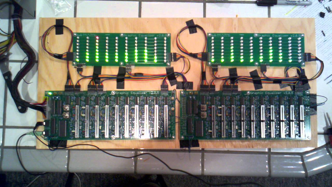 Senior Project Graphic Equalizer Youtube Band Schematic Design