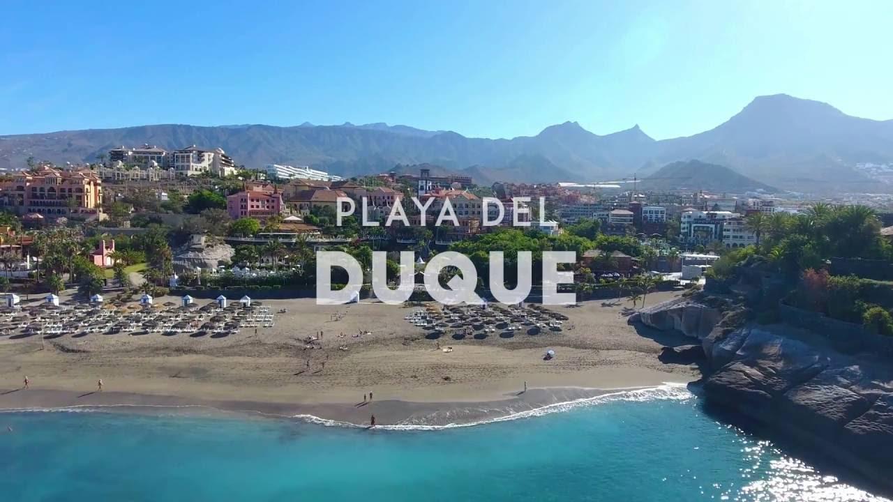 Playa del Duque (Adeje) desde el aire. - YouTube
