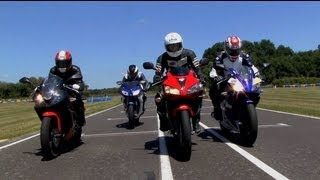 La rédaction s'éclate en 125 sportives : Yamaha YZF, Honda CBR, Hyosung GTR et MH RX