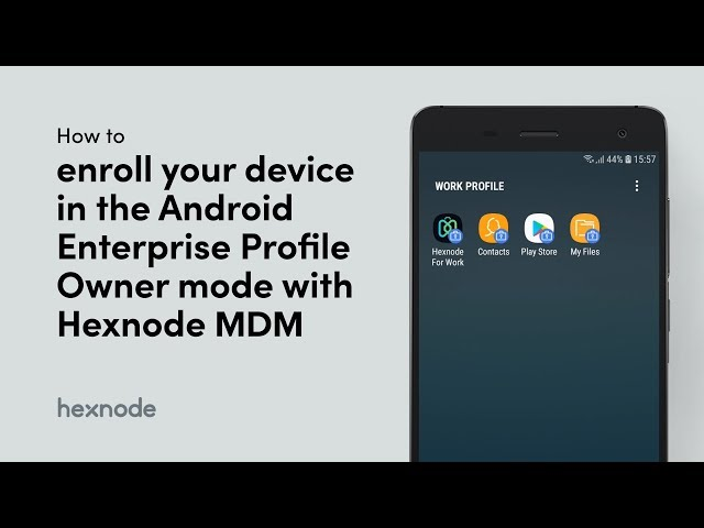 How to enroll your device in the Android Enterprise Profile