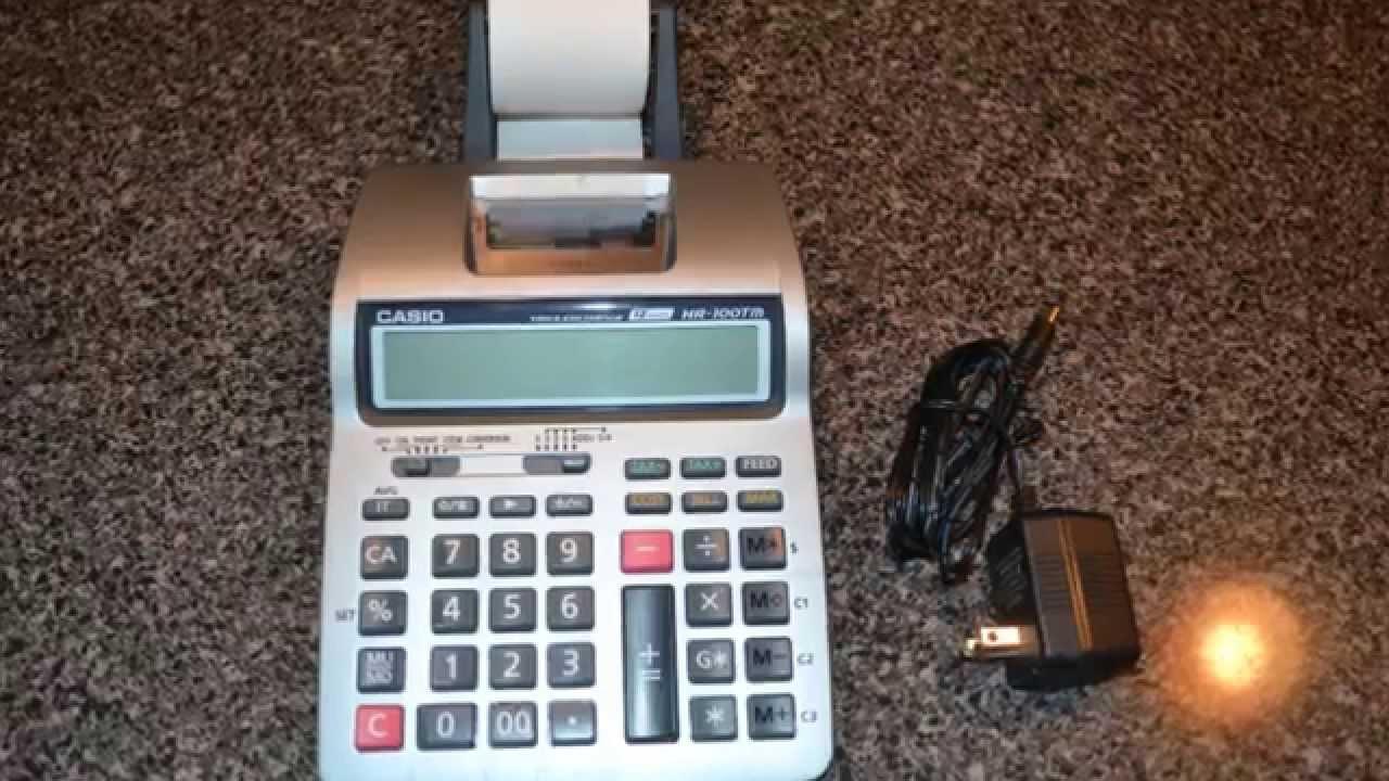 a6be1fc1a0d Casio HR-100TM Business Calculator Tax   Exchange