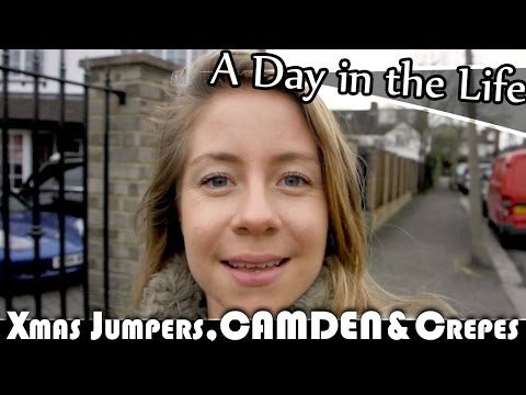CHRISTMAS JUMPERS, CAMDEN & CREPES - LONDON DAILY VLOG (ADITL EP162)