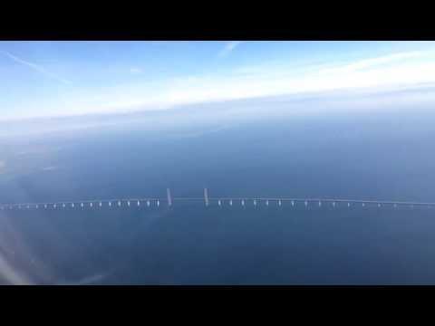 Øresund Bridge Flyover - Connecting Denmark and Sweden