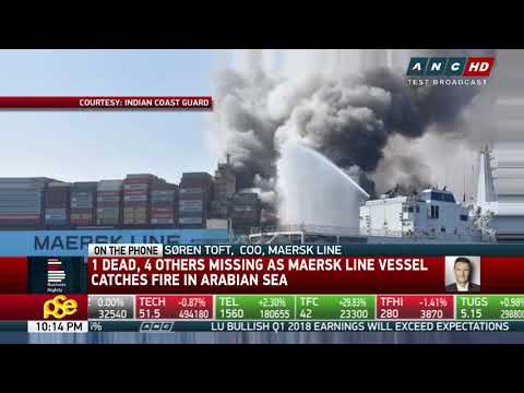 Maersk searches for 2 Filipino crewmen, 2 others after ship fire
