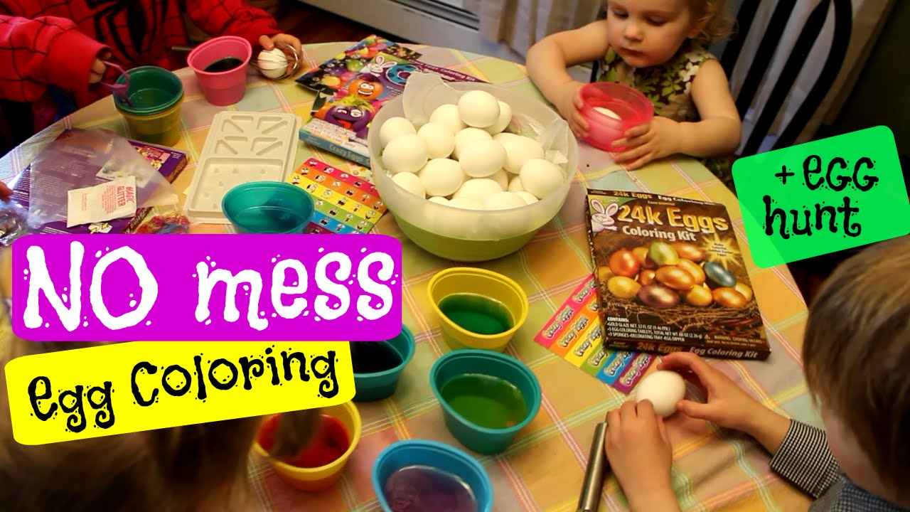 NO MESS Coloring Easter EGGs Hack - YouTube