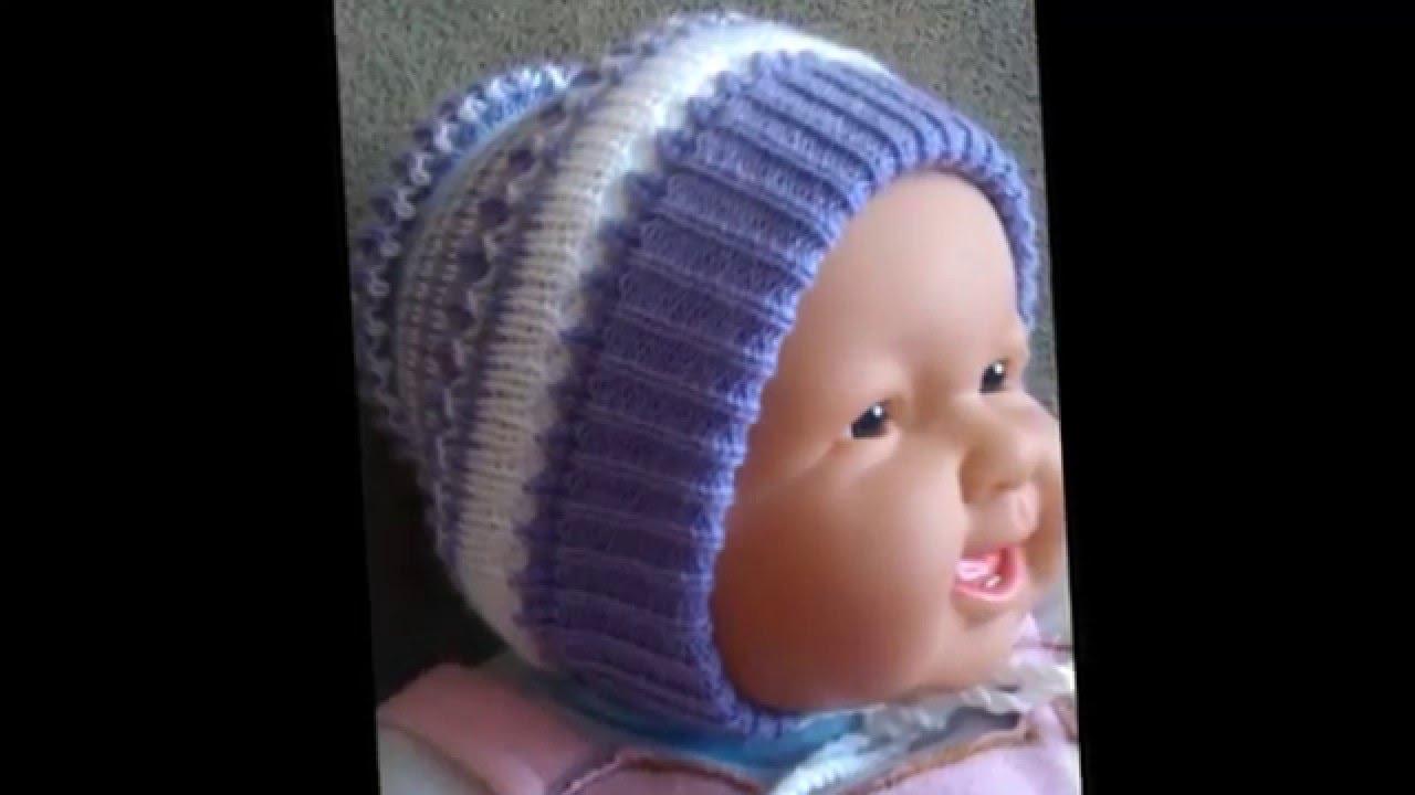 Вязание для детей Зимние шапочки для девочек и мальчиков ...