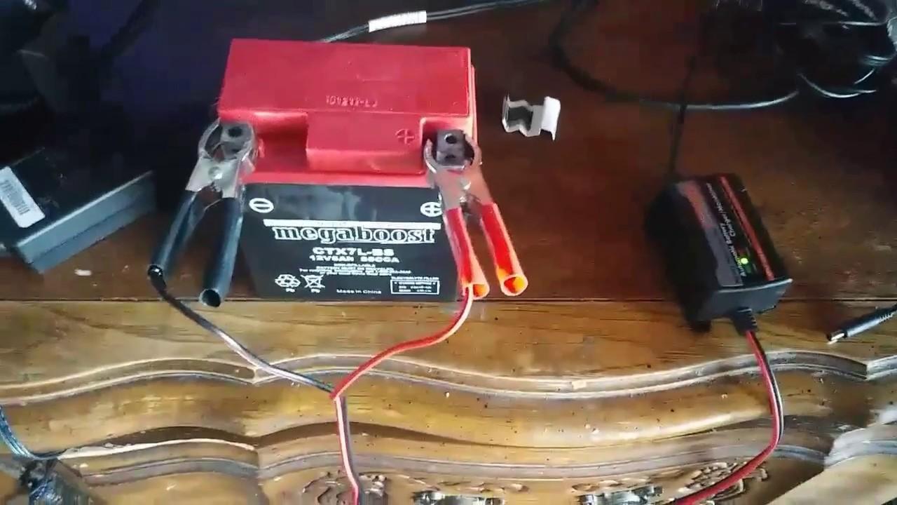 changing a motorcycle battery 2009 honda reble  [ 1280 x 720 Pixel ]