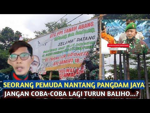Download Berita terkini~SEORANG PEMODA NANTANG PANGDAM JAYA🔴JANGAN COBA COBA TURUNKAN BALIHO LAGI
