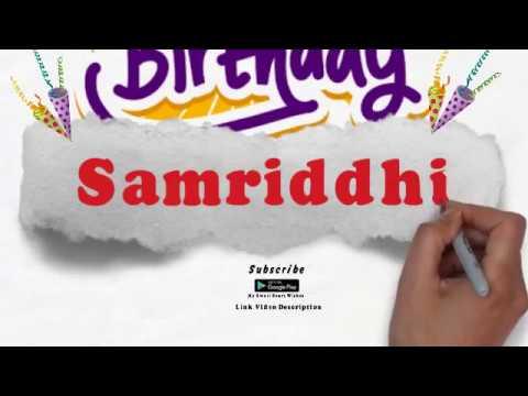 Happy Birthday Samriddhi