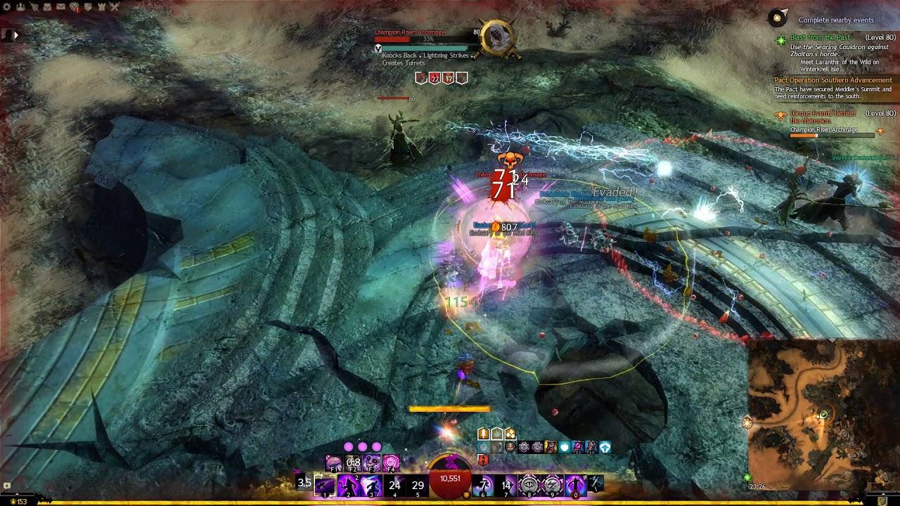 Guild Wars 2 Champion archmage solo (untill randoms join