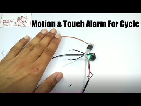 Diy Touch & Motion Alarm For Cycle
