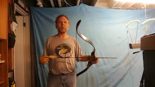 basement chrono test, 7 oct 15 2018,home made bow ,kijiji find