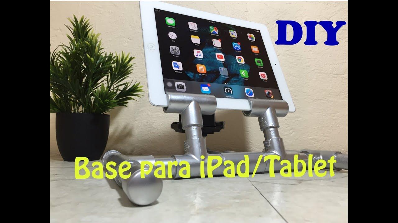 Base economica diy para ipad tablet doble proposito - Soporte tablet cama ...